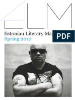 Estonian Literature Magazine, Spring 2017.