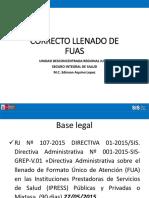 Llenado Del Formato Único de Atención FUA y HIS