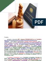 MPF - Denúncia Prevaricação na Lei Trabalhista