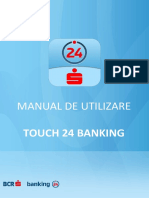 BCR Touch 24 Banking Manual de Utilizare
