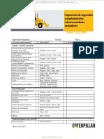 Material Inspeccion Checklist Retroexcavadoras Cargadoras Caterpillar