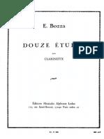 E. BOZZA Douze Études Pour Clarinette