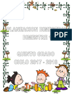 01 Plan 5to Grado - Bloque 1 2017 - 2018