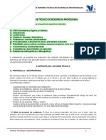 3. Estructura Del Informe Tecnico de Residencias Okkk