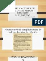 Complicaciones Comunes de Las Otitis Medias
