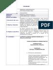 Programa Curso de Derecho Administrativo