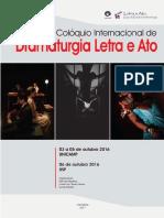 Anais I Colóquio Internacional Dramaturgia, Letra e Ato