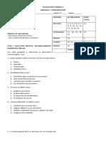 Evaluación de Unidad Elementos Líricos