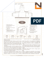 NL Corporation M3100 100w MV R40 Alzak Reflector Downlight Spec Sheet 10-75