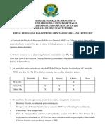 Edital de Seleção Para o PET CS - UFPE 2017