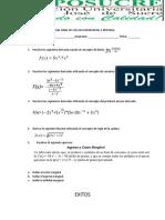 Parcial Final de Cálculo Diferencial e Integral