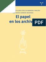 El Papel en Los Archivos - María Díaz de Miranda & Ana María Herrero