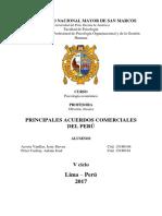 Principales Acuerdos Comerciales Del Perú