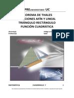 Cuadernillo 7_Teorema de Thales, Funciones, Triang Rectan y Func Cuadrática.pdf