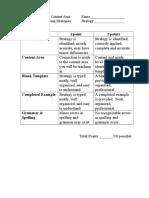 Rubric for Scoring Strategies F13