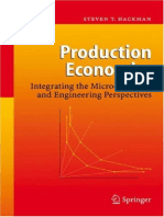 Production Economics - Integrating the Microeconomic and Engineering Perspectives