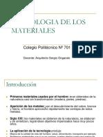 Tecnologiadelosmateriales Introduccion 120310064905 Phpapp02