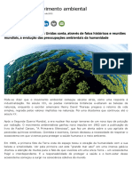 A História Do Movimento Ambiental _ Instituto Nacional de Educação Ambiental