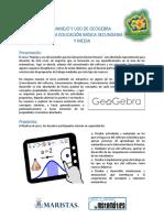 Estructura Del Curso geogebra Secundaria y Media