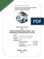 Energias Renovables en Tacna