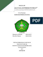 MAKALAH PERAN ZAKAT DALAM PEREKONOMIAN [FATIMAH & FEBRY 2014].docx