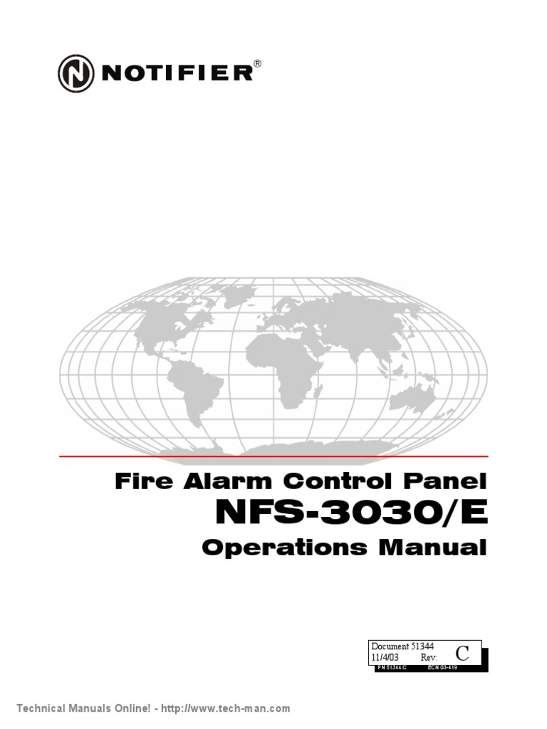 Notifier-NFS-3030-E-Operations-Manual.pdf | Security Alarm |  Electromagnetic Interference