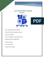Law Unit 1 Internal Assessment - Carlos Gonsalves Guyana