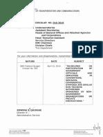 DOTR Memorandum Circular No. 016-2016