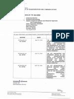 DOTR Memorandum Circular No. 017-2016