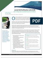 Improving Financial Aid Verification With ECM
