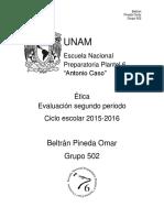 Trabajo de Etica, Segundo Periodo.