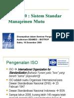 ISO 9000 Sistem Manajemen Mutu
