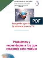 busqueda y gestion de informacion con tic