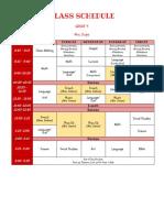 2017 gr 4 student schedule