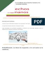 2° GRADO_ Participamos en la difusión de los derechos humanos en la comunidad educativa