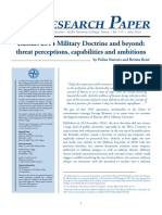 Russia's 2014 Military Doctrine & Beyond Threat Perceptions Capabilites & Ambitions (Sinovets 2015)