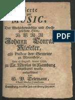 Einführungsmusik Klefeker (TVWV 3 - 29)