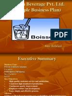 Sample Business Plan F&B