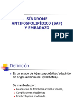 Sindrome Antifosfolipidico y Embarazo