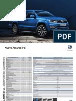 VW Amarok V6 Ficha técnica