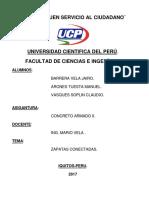 Zapatas Conectadas-Concreto II