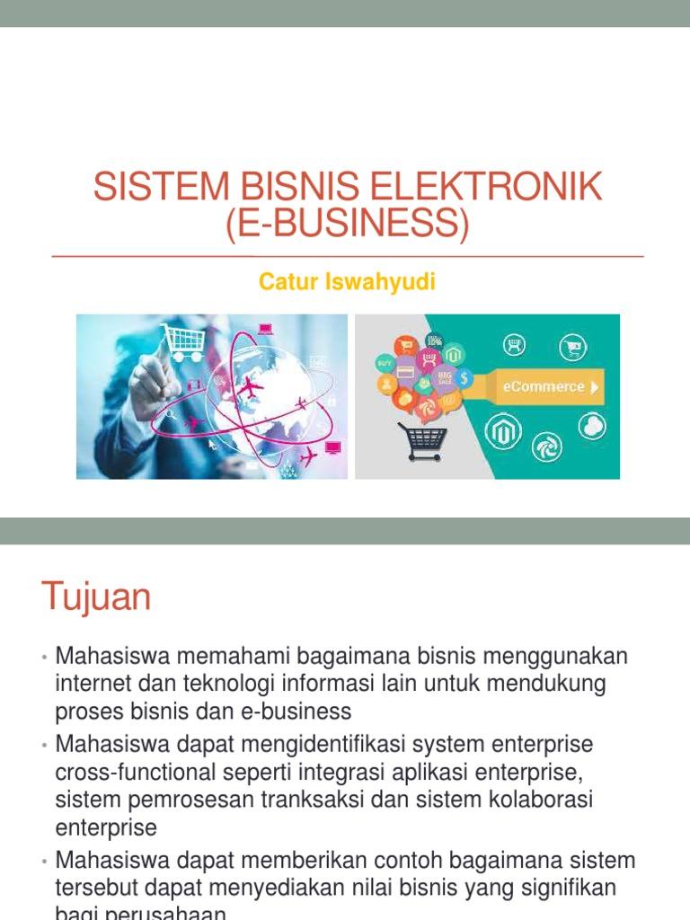 04 Sistem Bisnis Elektronik E Commerce Electronic Business