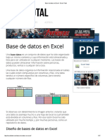 Base de Datos en Excel - Excel Total