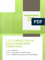 1.13. CONDUCCIÓN DE CALOR EN RÉGIMEN TRANSITORIO..pptx