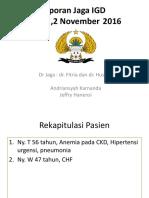 Laporan Jaga Bangsal 2 Nov 16.pptx