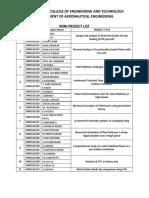 Mini project list.docx
