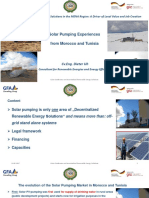 Solar Pumping Experiences From Morocco and Tunisia