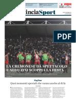 La Provincia Di Cremona 04-09-2017 - Sport