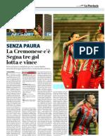 La Provincia Di Cremona 04-09-2017 - La Partita
