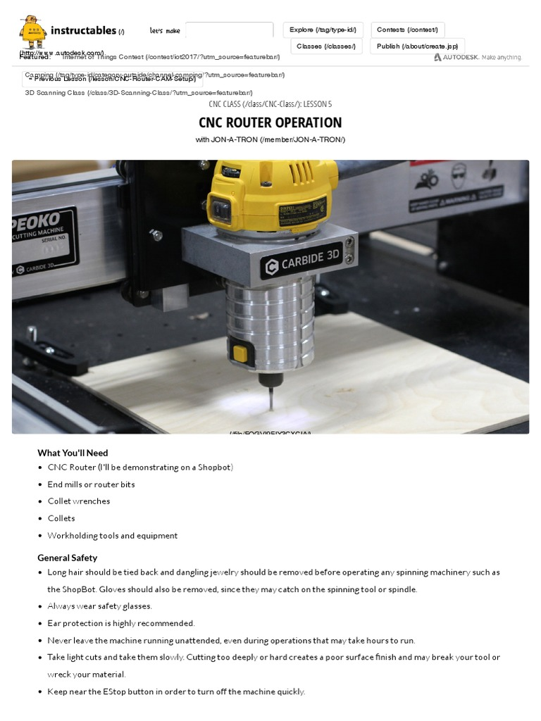 CNC 05 CNC Router Operation | Numerical Control | Screw